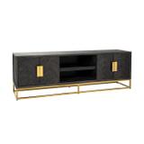 Richmond TV-meubel 'Blackbone' Eiken, kleur Zwart / Goud, 185cm
