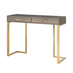 Richmond Sidetable 'Calesta' Shagreen look, kleur Goud, 110cm