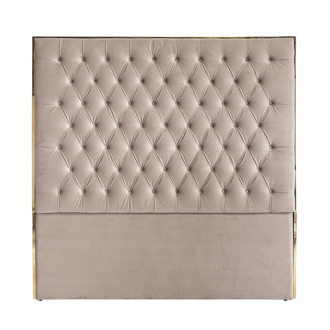Richmond Hoofdbord 'Lowell' Velvet, 180 x 180cm