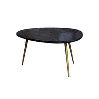 LivingFurn Salontafel 'Organic', marmer, kleur Black & Gold, 70 x 50cm