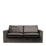 Rivièra Maison 2,5-zits Bank 'Continental' Velvet, kleur Grimaldi Grey