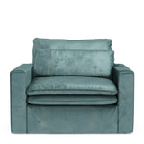 Rivièra Maison Loveseat 'Continental' Velvet, kleur Mineral Blue