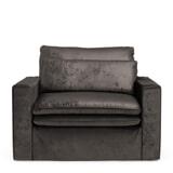 Rivièra Maison Loveseat 'Continental' Velvet, kleur Grimaldi Grey