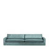 Rivièra Maison Bank 'Continental' XL, Velvet, kleur Mineral Blue