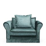 Rivièra Maison Loveseat 'Carlton' Velvet, kleur Mineral Blue