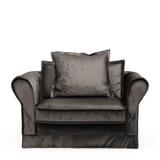 Rivièra Maison Loveseat 'Carlton' Velvet, kleur Grimaldi Grey