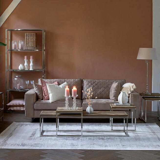 Rivièra Maison 3,5-zits Bank 'Kendall' Scottish Suede, kleur Liver