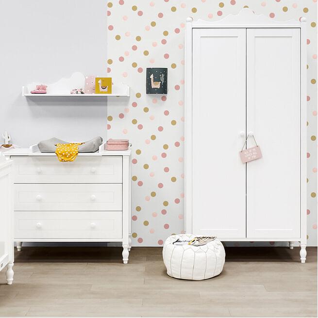 Bopita Kledingkast 'Belle' kleur wit
