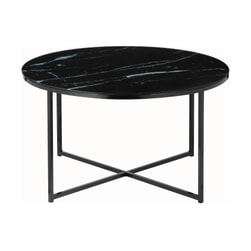 Artistiq Salontafel 'Roel', 80cm, Marmerlook, kleur Zwart