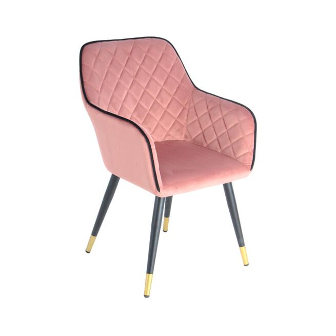 Kayoom Eetkamerstoel 'Amino' kleur roze / zwart