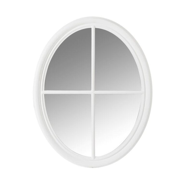J-Line Spiegel 'Dionisius' Kruis, kleur Wit