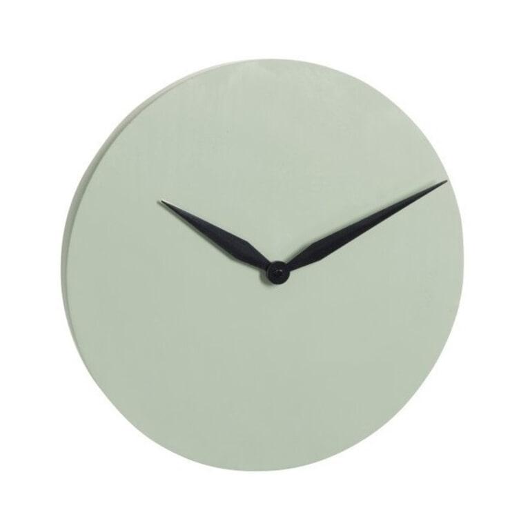 J-Line Klok 'Gerd' kleur Groen, Ø40cm