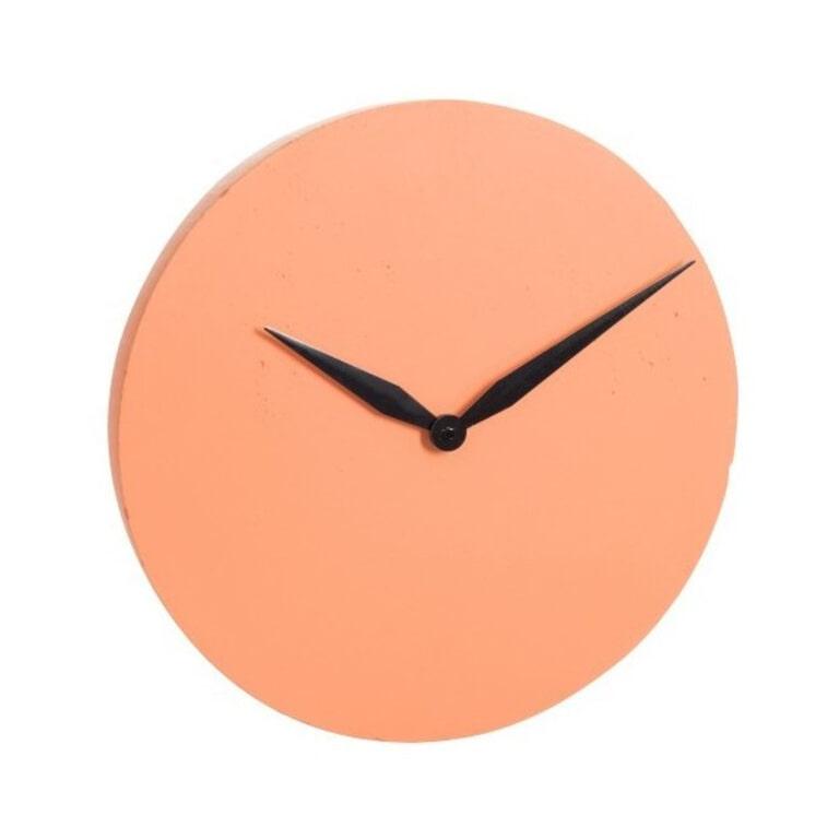 J-Line Klok 'Serafien' Oranje, Ø40cm