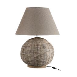 J-Line Tafellamp 'Antonietta' kleur Beige, Ø45cm