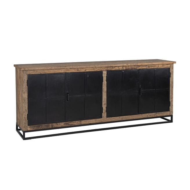 Richmond Dressoir 'Raffles' Staal en gerecycled hout, 200cm