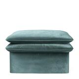 Rivièra Maison Hocker 'Continental' 105 x 90cm, Velvet, kleur Mineral Blue