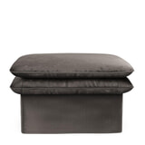 Rivièra Maison Hocker 'Continental' 105 x 90cm, Velvet, kleur Grimaldi Grey