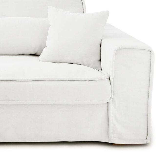 Rivièra Maison 3,5-zits Bank 'Metropolis' Oxford Weave, kleur Alaskan white