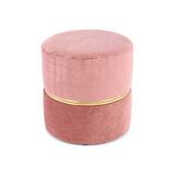Kayoom Poef 'Cleopatra' 40cm, kleur roze