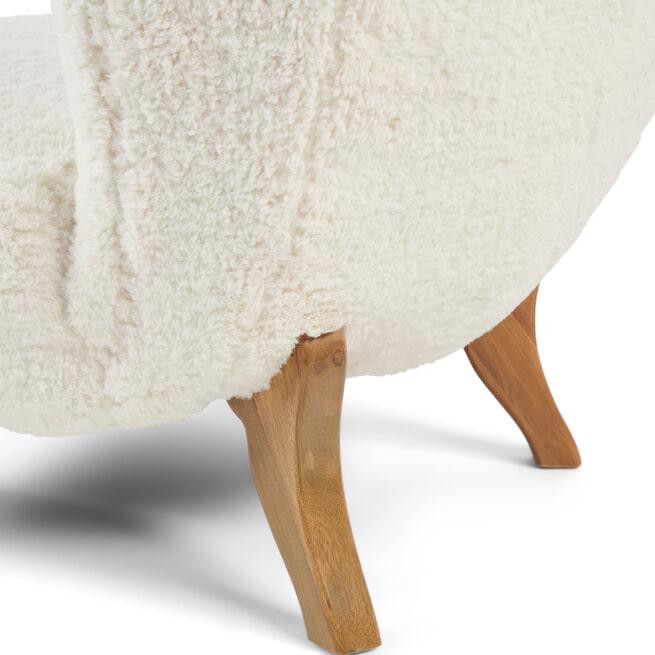 Rivièra Maison Fauteuil 'Aspen' Teddy, kleur White