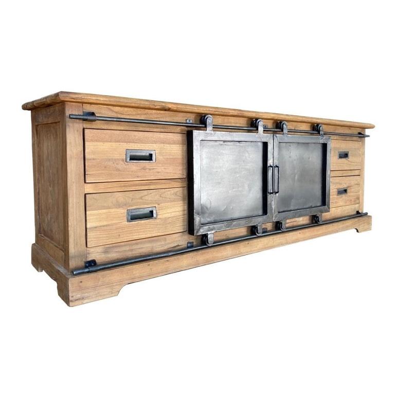 LivingFurn TV-meubel 'Porto' kleur Naturel, 180cm