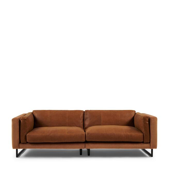 Rivièra Maison 3,5-zits Bank 'Biltmore' Leather en Velvet