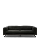 Rivièra Maison 3,5-zits Bank 'Biltmore' Leather en Velvet, kleur Charcoal