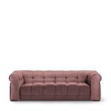 Rivièra Maison 3,5-zits Bank 'Cobble Hill' Velvet, kleur Dusty Pink