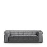 Rivièra Maison 3,5-zits Bank 'Cobble Hill' Velvet, kleur Rock Grey