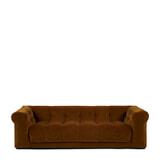 Rivièra Maison 3,5-zits Bank 'Cobble Hill' Velvet III, kleur Golden Brown