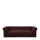 Rivièra Maison 3,5-zits Bank 'Cobble Hill' Celtic Weave, kleur Passion Plum
