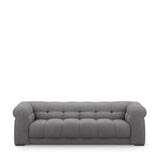 Rivièra Maison 3,5-zits Bank 'Cobble Hill' Celtic Weave, kleur Steel Grey