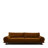 Rivièra Maison 3,5-zits Bank 'Collins' Velvet, kleur Golden Brown