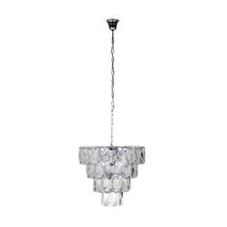 Richmond Hanglamp 'Wyne', Glas, kleur Zilver