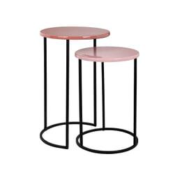 Richmond Bijzettafel 'Yoke', set van 2, kleur Roze