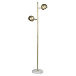 LivingFurn Vloerlamp 'Joe' kleur goud