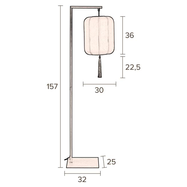 Dutchbone Vloerlamp 'Suoni' 157cm