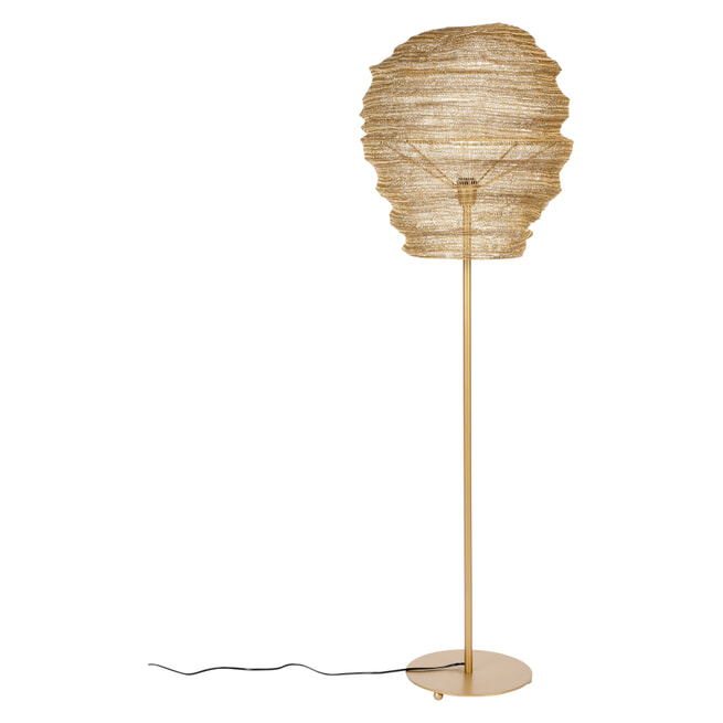 ZILT Vloerlamp 'Deepika', 154cm, kleur Goud