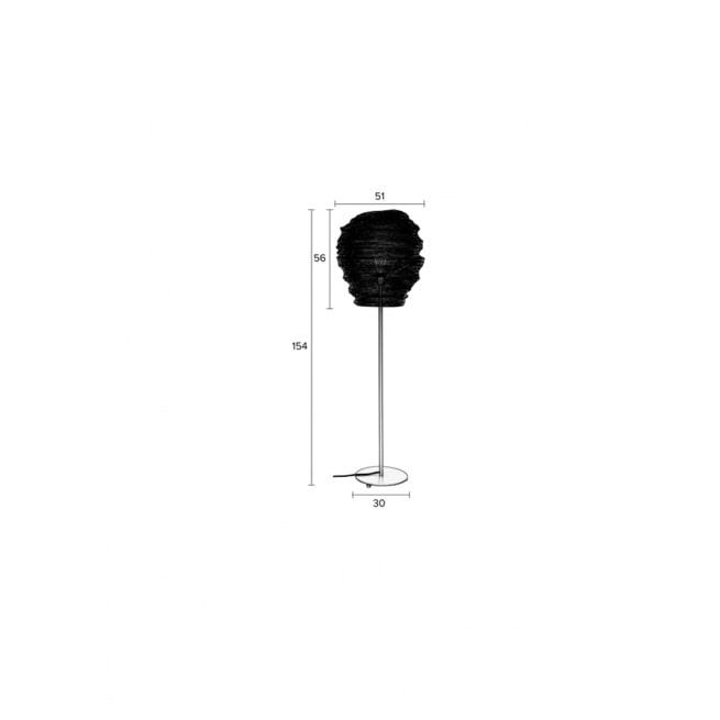 ZILT Vloerlamp 'Micki', 154cm, kleur Zwart