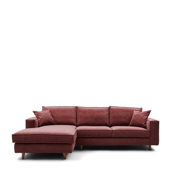 Rivièra Maison Loungebank 'Kendall' Velvet, kleur Misty Rose