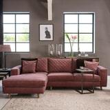 Rivièra Maison Hoekbank 'Kendall' Links, Velvet, kleur Misty Rose