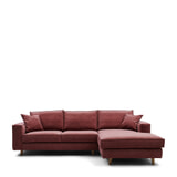 Rivièra Maison Hoekbank 'Kendall' Rechts, Velvet, kleur Misty Rose