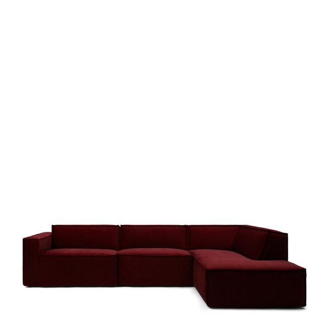 Rivièra Maison Modulaire Bank 'The Jagger' Center 95cm, Velvet, kleur Vineyard Burgundy