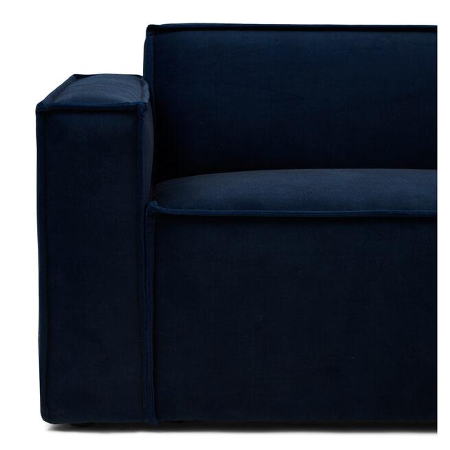 Rivièra Maison Modulaire Bank 'The Jagger' Corner Links, Velvet, kleur Midnight Blue