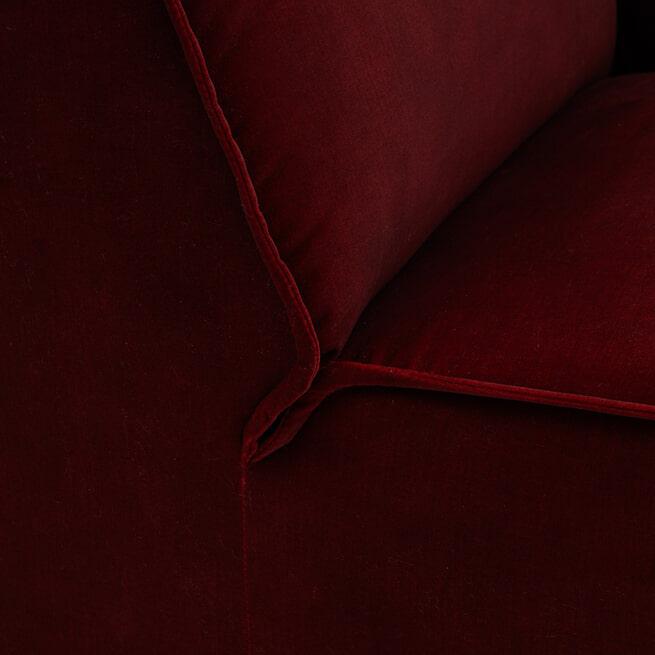 Rivièra Maison Modulaire Bank 'The Jagger' Corner, Velvet, kleur Vineyard Burgundy
