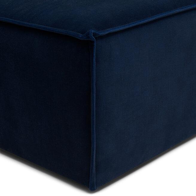Rivièra Maison Modulaire Bank 'The Jagger' Corner, Velvet, kleur Midnight Blue
