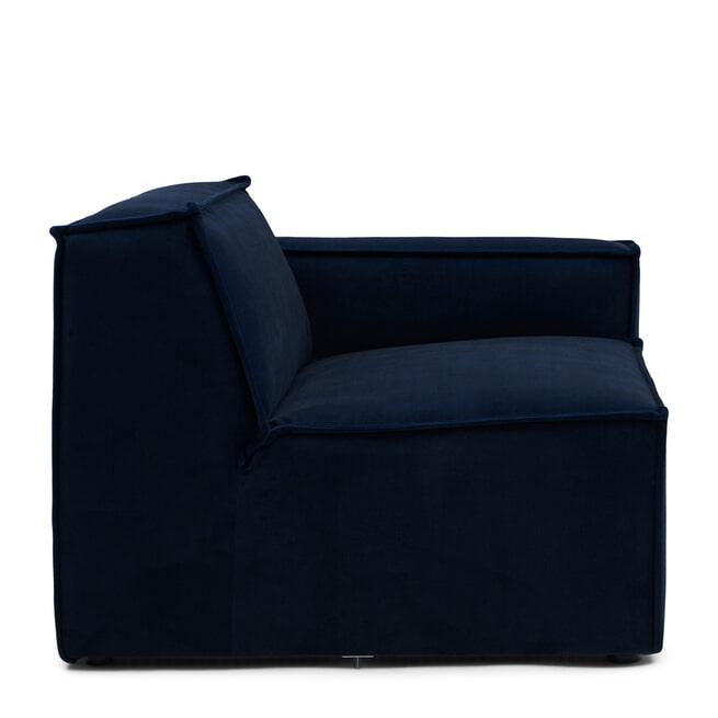 Rivièra Maison Modulaire Bank 'The Jagger' Corner Rechts, Velvet, kleur Midnight Blue