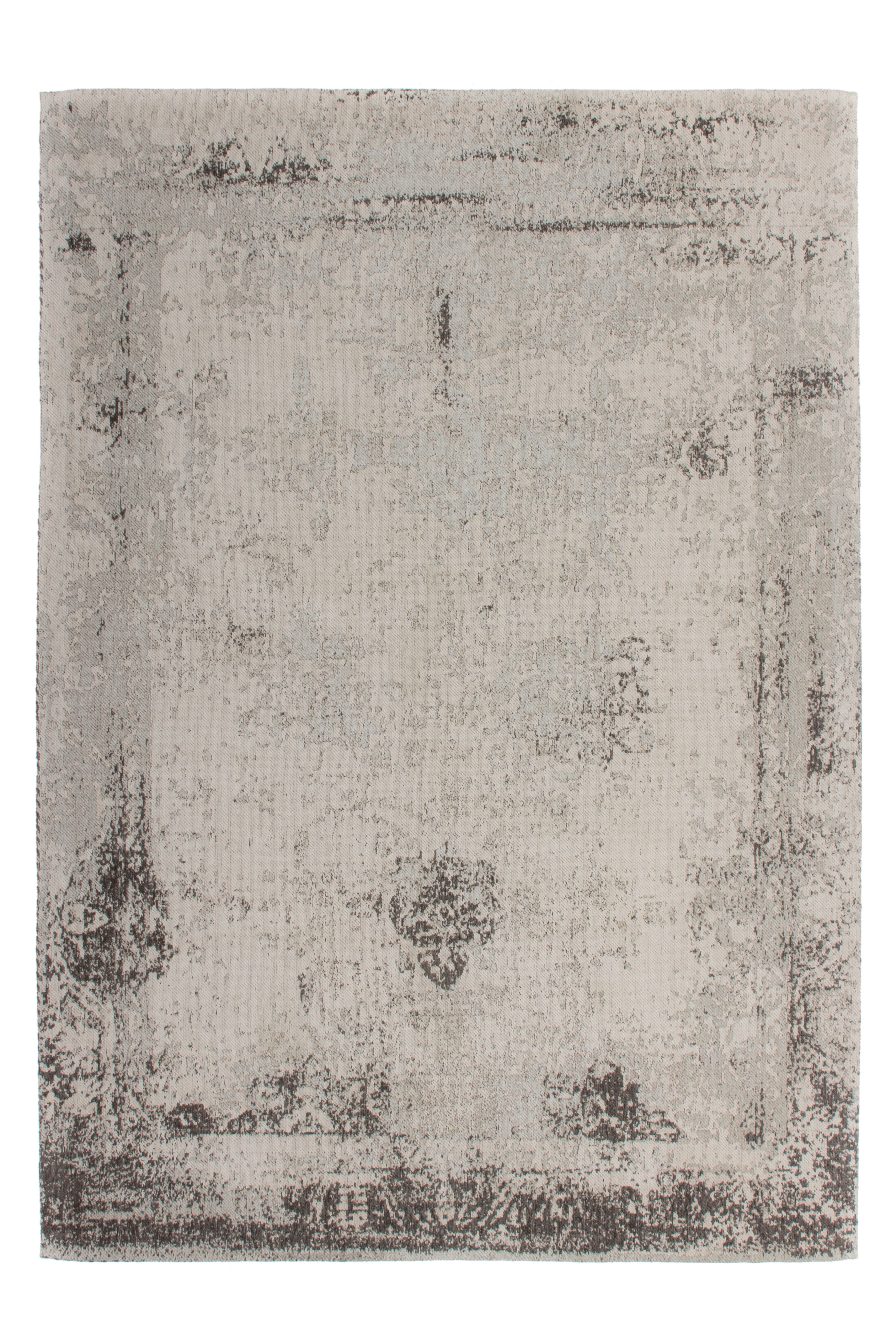 Kayoom Vloerkleed 'Nostalgia 285' kleur Grijs / Antraciet, 80 x 150cm
