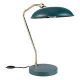 Dutchbone Tafellamp 'Liam' 49.5cm, kleur Teal