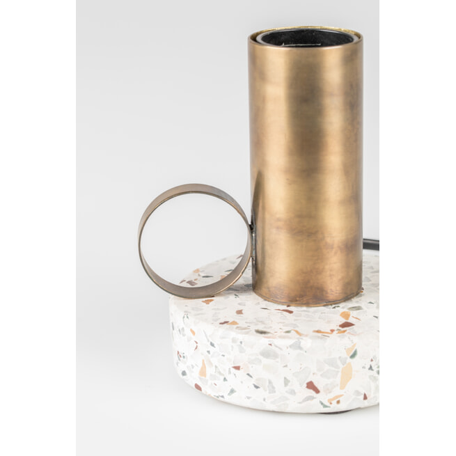 Zilt Tafellamp 'Aria', 13cm, kleur Goud
